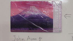 The special John Avon Mt. Fuji playmat! 富士山プレイマット販売中!